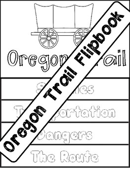 Oregon Trail Flipbook Interactive Notebook Foldable by