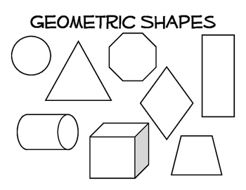 Organic and Geometric Shape Coloring Page by Excuse the