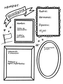 Organizador Gráfico: Escribir una Biografía en Español by