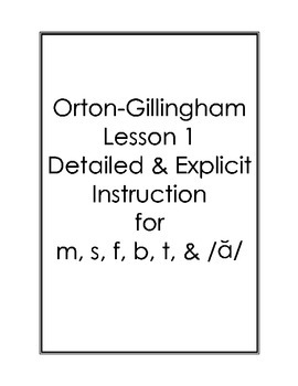 Orton-Gillingham Lessons 1-5 Bundle: Detailed & Explicit