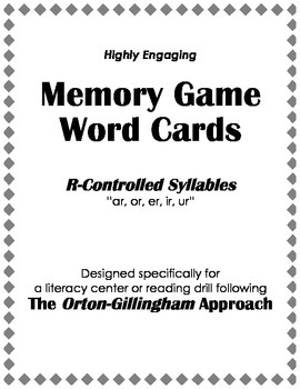 Orton-Gillingham Reading Drill: Memory Match Game