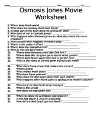 Osmosis Jones Worksheet Answers Free Worksheets Library