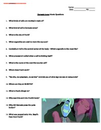 Osmosis Jones Movie Worksheet by Huynh