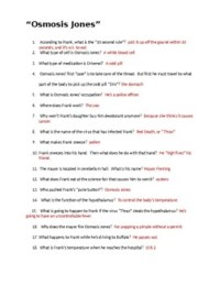 Osmosis Jones Movie Worksheet with KEY by Biology Boutique