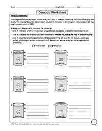 Tonicity And Osmosis Worksheet Answers