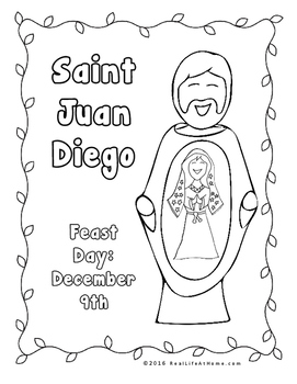 Our Lady of Guadalupe and Saint Juan Diego Printables