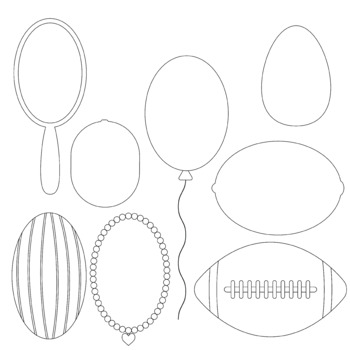 Oval objects 2D Clip art (shapes) by ThinkingCaterpillars