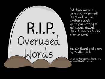 Overused Words Rest In Peace Bulletin Board Kit By The