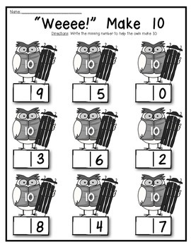 Owl About 10 {Decomposing and Composing} Supports Math