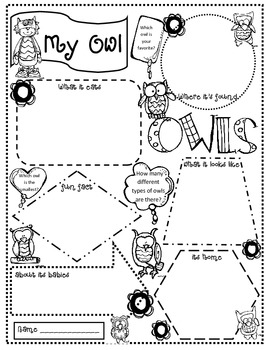 Owl Craftivity with a Variety of Writing Options by Janet