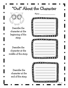 Owl Themed Common Core Reading Literature Graphic