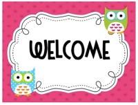 Owl theme Welcome Sign by ECDC Teacher | Teachers Pay Teachers