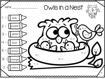 Fall Owl Activities for Kindergarten: Owls Worksheets