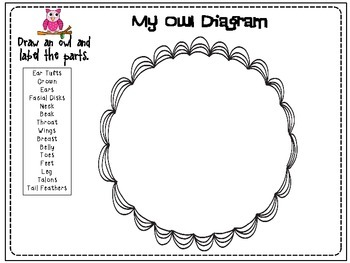 Owls: Reading and Writing Informational Text CCSS by Third