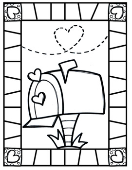 P4 COLOR IT IN {FREE} Valentine Coloring Pages by P4 Clips