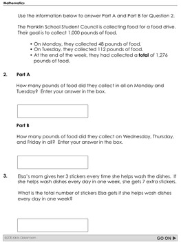 Parcc Math Test Prep 3rd Grade Printable Practice For