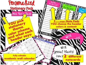 personalized teacher stationery resources