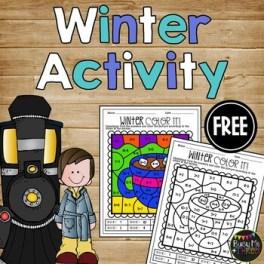 POLAR EXPRESS Activities Color Sheet NO PREP Fun for Winter