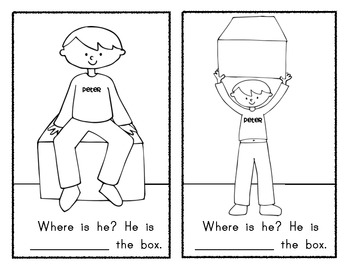 POSITION WORDS: Can You Find Peter? Reader / Book by Class