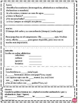 PRACTICA DIARIA DE LENGUAJE (PDL) by The Bilingual Teacher