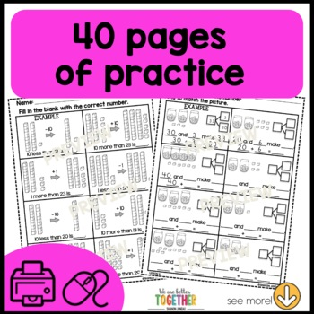 Math Worksheets 1st Grade [Place Value] by OCD in