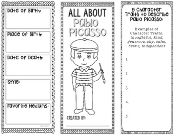 Pablo Picasso Famous Artist Biography Research Project