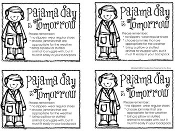 Pajama Day and Cocoa Freebie- Perfect if you watch the