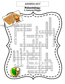 Paleontology / Geologic Time Scale: Crossword Puzzle by