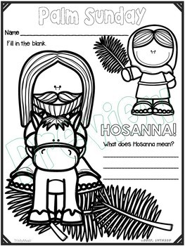 Palm Sunday Coloring Handouts (Worksheets) by TrinityMusic