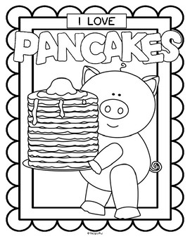Pancake Day and I Love Pancakes Posters Coloring