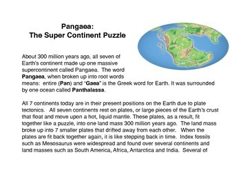 Pangaea The Supercontinent Puzzle By The Common Core And