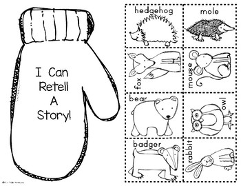 The Mitten: Paper Bag Retelling for Kindergarten & First