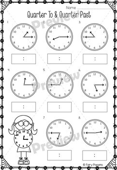 Telling Time Worksheets, Bingo and Clock Templates by
