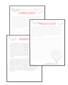 Paragraph Correction--Writing Activity for Halloween by