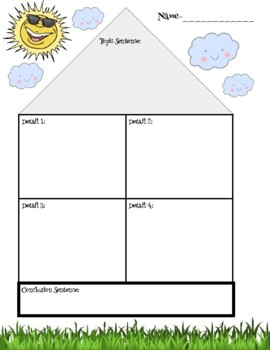 Paragraph House Graphic Organizer For Expository Writing Or Reports