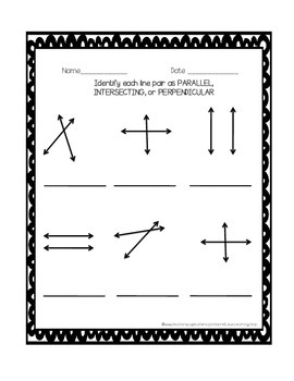 Parallel, Intersecting, and Perpendicular Visual Aid and