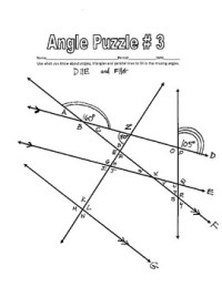 Worksheet Number 3 Parallel Lines Cut By A Transversal ...