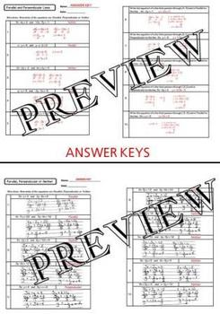 Parallel, Perpendicular or Neither Worksheet with answers