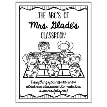 Parent Handbook: ABC's of Our Classroom {EDITABLE} by