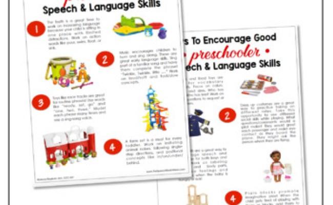 Parent Handouts Toys To Increase Speech Language Skills