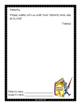 Parent Writing Homework {Favorite Childhood Book} by Sims