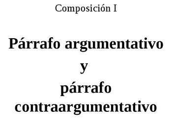 Párrafo argumentativo y párrafo contraargumentativo by