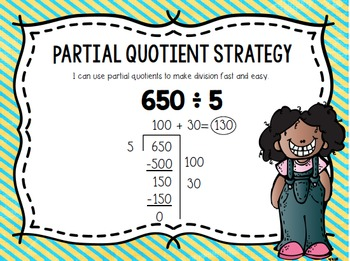 Partial Quotients A Division Strategy Seat Scoot Activity