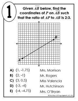 Partitioning a Line Segment Math Lib by All Things Algebra