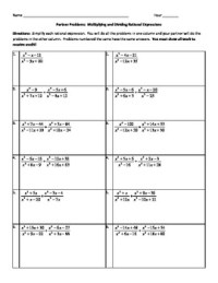Partner Problems: Multiplying and Dividing... by Kristie ...