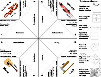 Parts of Speech Quiz 5th, 6th, 7th, 8th Grade Grammar