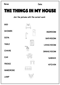 Parts of the house: worksheets and craft by Cristina