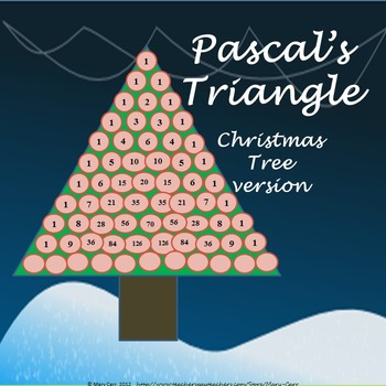 Pascals Triangle Christmas Tree By Mary Carr Teachers