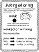 Past Tense Spelling Rules when Adding ed & ing 33 Suffix