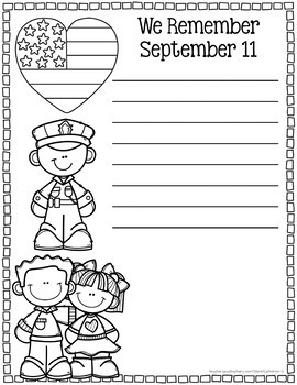 Patriot Day September 11th: 911 Activities by Catherine S